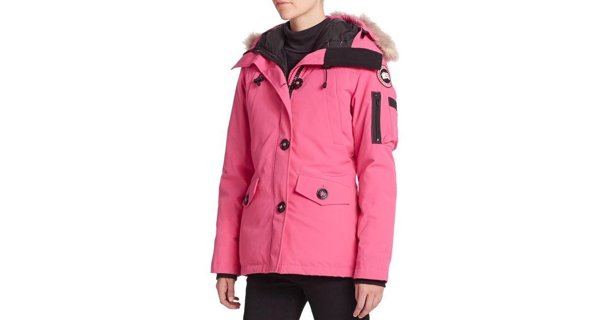 canada goose parka pink