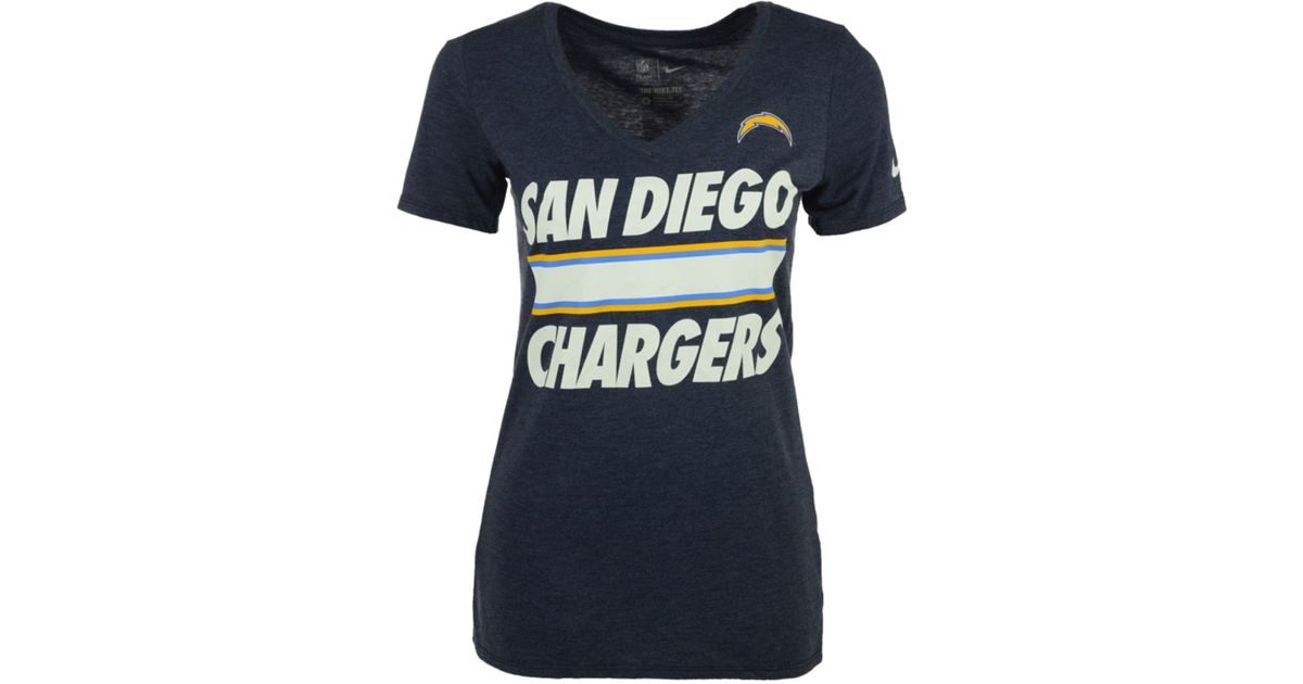 Nike Women S San Diego Chargers Team Stripe T Shirt In