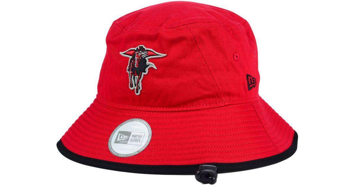 534ffc164804b KTZ Texas Tech Red Raiders Tip Bucket Hat in Red for Men - Lyst
