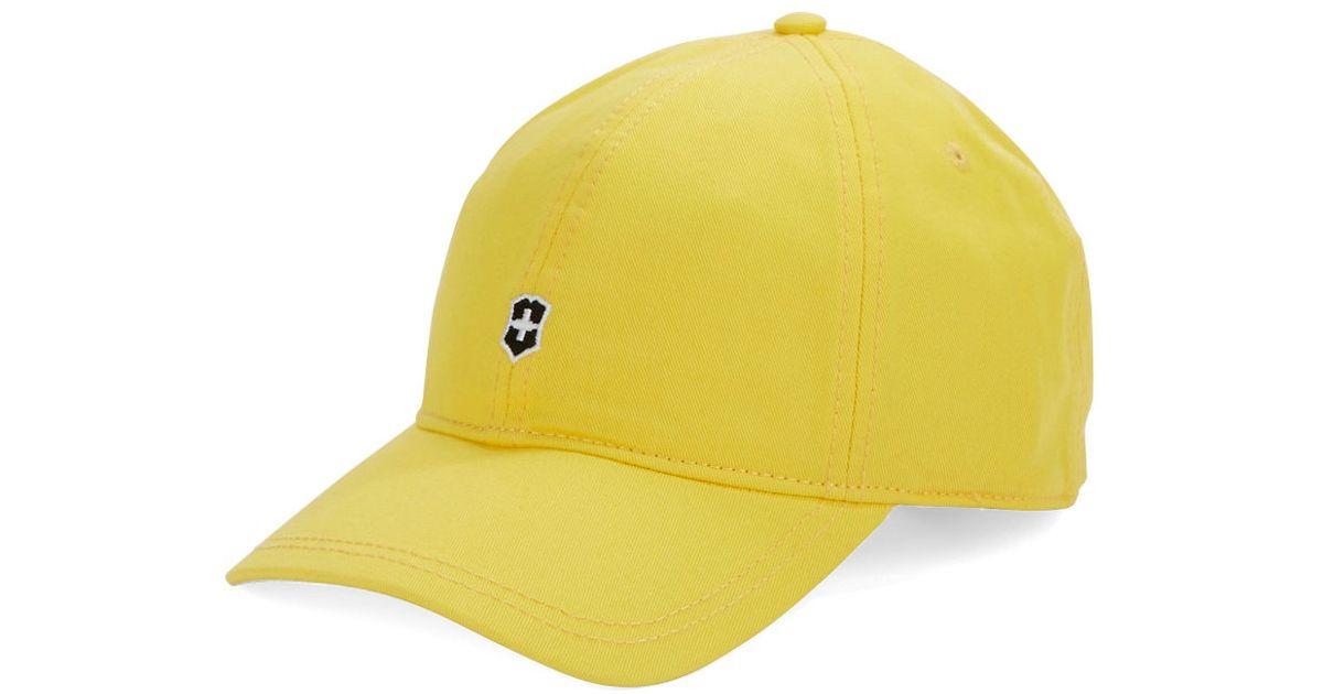 Lyst - Victorinox Classic Baseball Cap in Yellow for Men d2b43ec5073