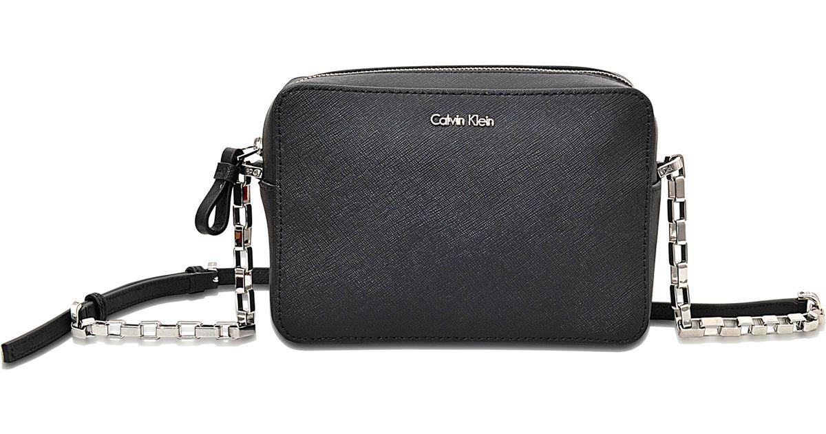 194e646900ae Calvin Klein Sofie Mini Crossbody Bag in Black - Lyst