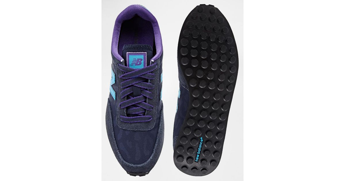New Balance Blue 410 Suede Mix Navy & Purple Sneakers