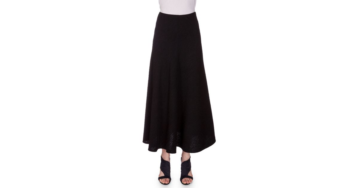 roland mouret brent flowy crinkled chiffon maxi skirt in