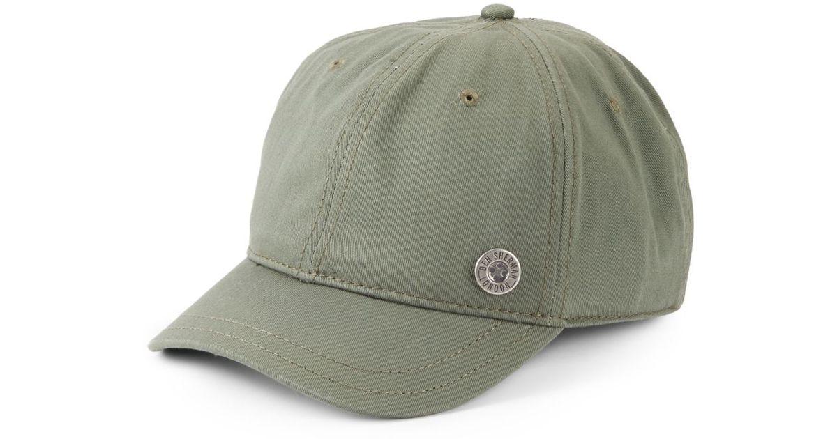 0e79e892df0 Lyst - Ben Sherman Cotton Twill Baseball Cap in Gray for Men