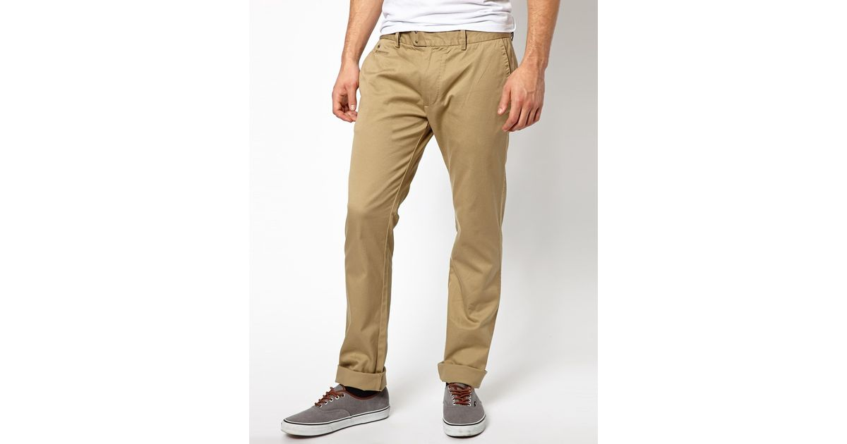 3ea6654d DIESEL Chinos Chi Tight E Slim Fit Washed in Natural for Men - Lyst