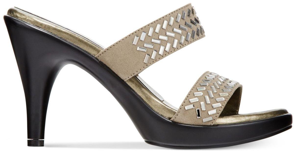 f05bbeae7182 Lyst - Callisto Athena Alexander By Grayson Slide Dress Sandals in Natural