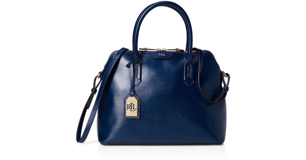 fe27b478d7 Lyst - Ralph Lauren Lauren Tate Dome Satchel in Blue