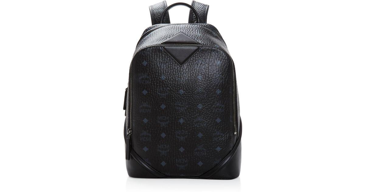 1c66ad284edb MCM Small Duke Visetos Backpack in Black - Lyst