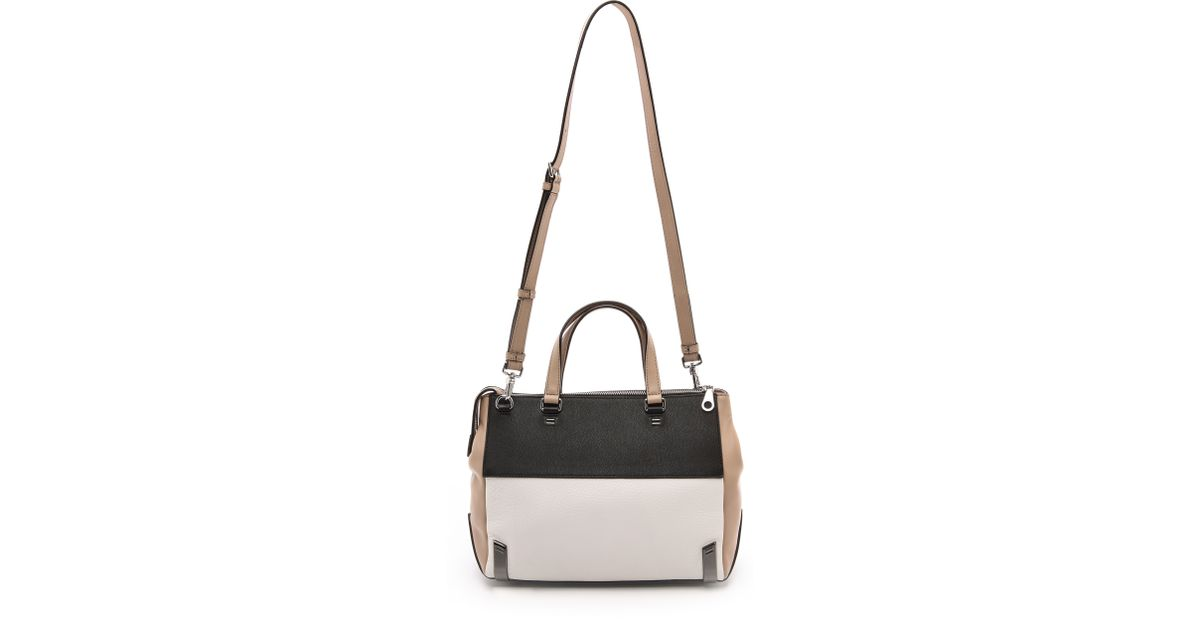 2df1a90e1f94 Lyst - Marc By Marc Jacobs Sheltered Island Satchel Cement Multi in Black