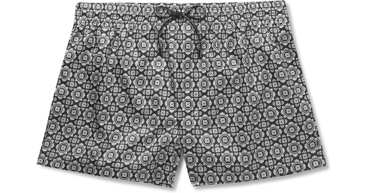 7e370e398ebce Dolce   Gabbana Medallion-printed Short-length Swim Shorts in Black for Men  - Lyst