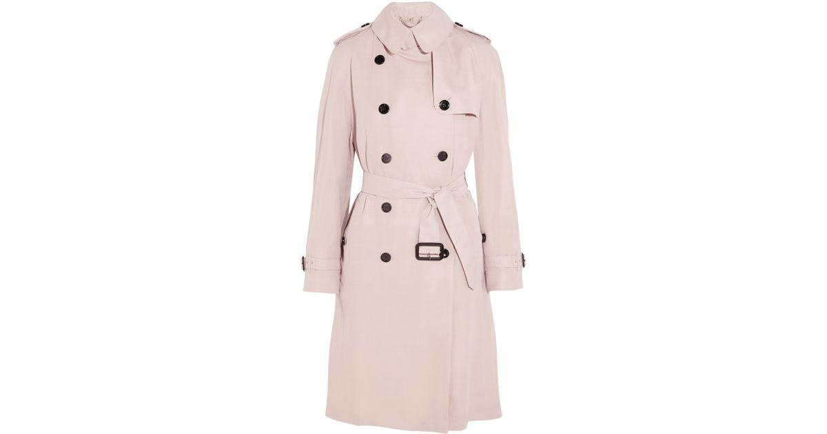 b179d5f924fbf Lyst - Burberry Gabardine Trench Coat in Pink
