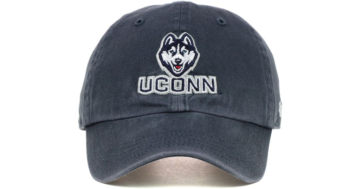 new concept 6964f 8a6ed ... uk lyst 47 brand kids connecticut huskies clean up cap in blue for men  71678 1a33b