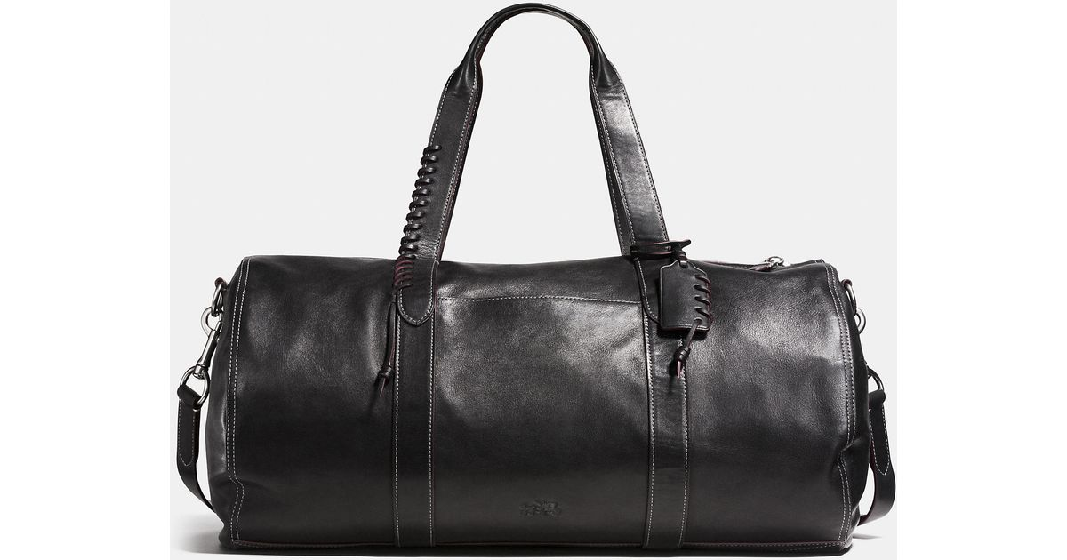 Lyst Coach Rip And Repair Large Gym Bag In Sport Calf Leather Black For Men
