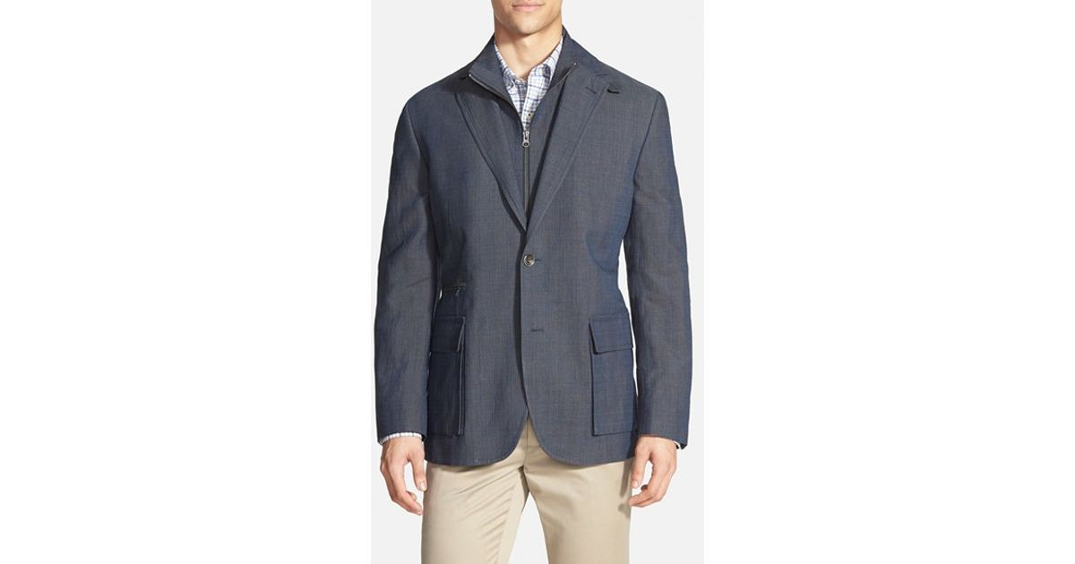 Kroon 'commodore' Classic Fit Linen Blend Sport Coat With Inset ...