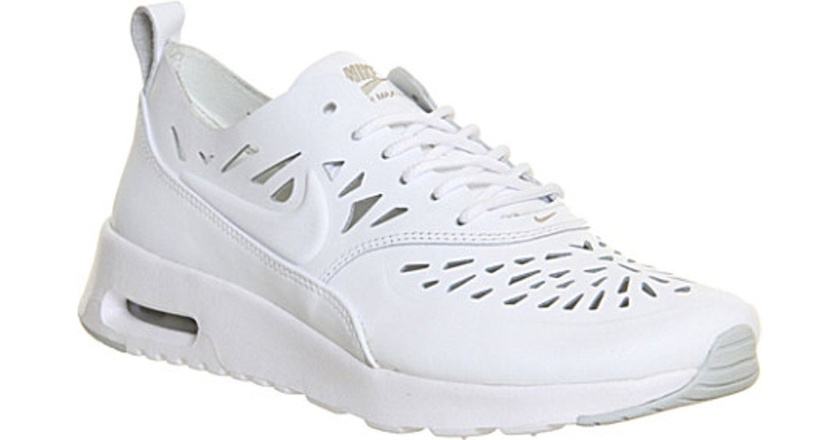 Nike White Air Max Thea Leather Trainers For Women