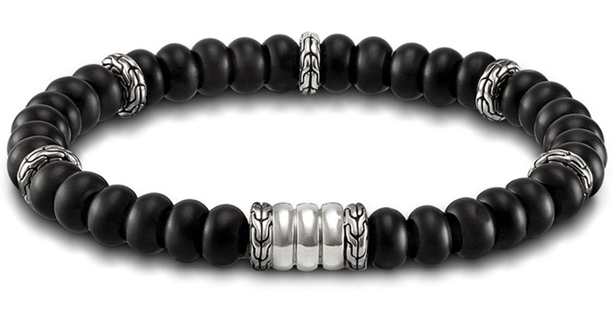 John Hardy Batu Bedeg Men S Beaded Bracelet In Black For