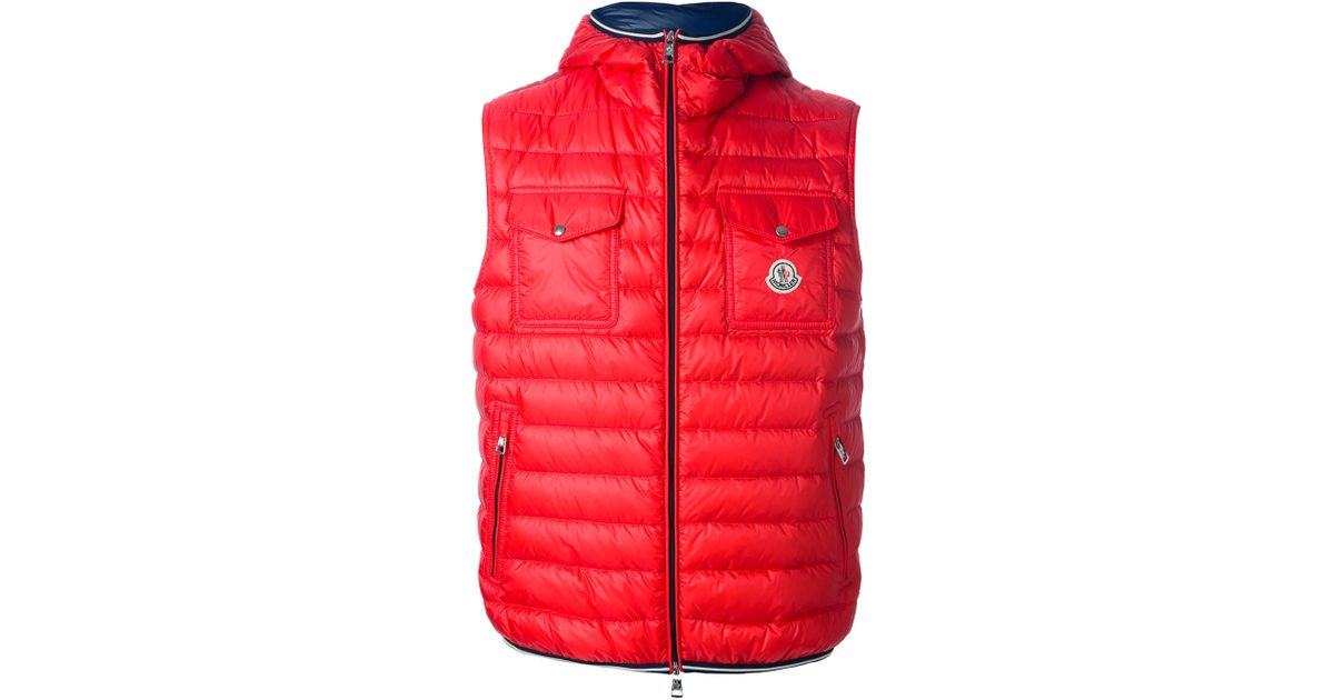 ae11092f9 Moncler - Red Gers Down Gilet for Men - Lyst