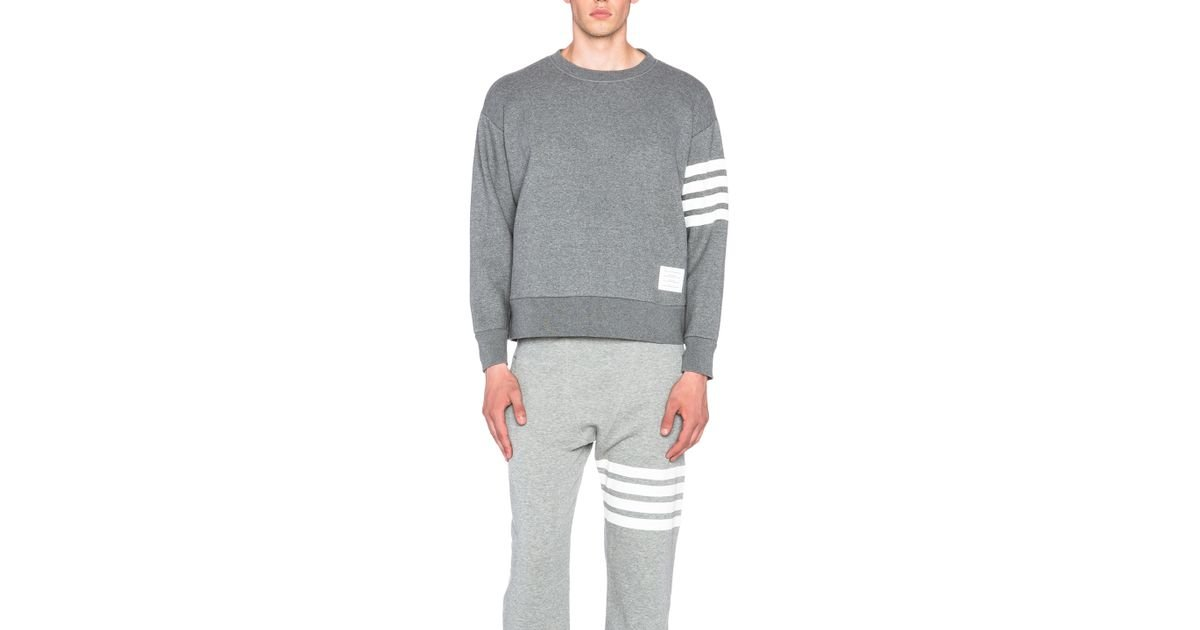Crewneck Oversized Thom In Lyst Browne Sweatshirt Gray A534RjLq