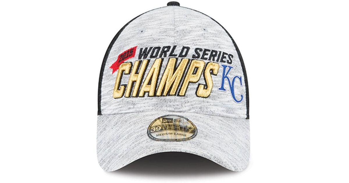 93665cb9 KTZ - Black Kansas City Royals World Series Champ Locker Room Cap for Men -  Lyst