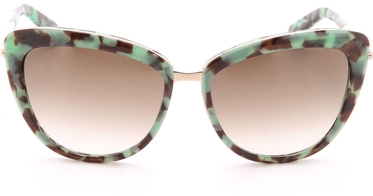 3b94490136b57 Kate Spade Kandi Sunglasses - Blush Tortoise Warm Brown in Green - Lyst