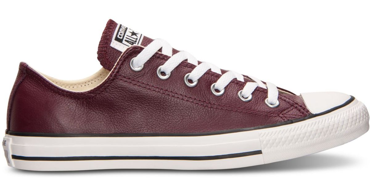 6550b0b2d52e04 Lyst - Converse Unisex Chuck Taylor Ox Leather Casual Sneakers From Finish  Line in Purple