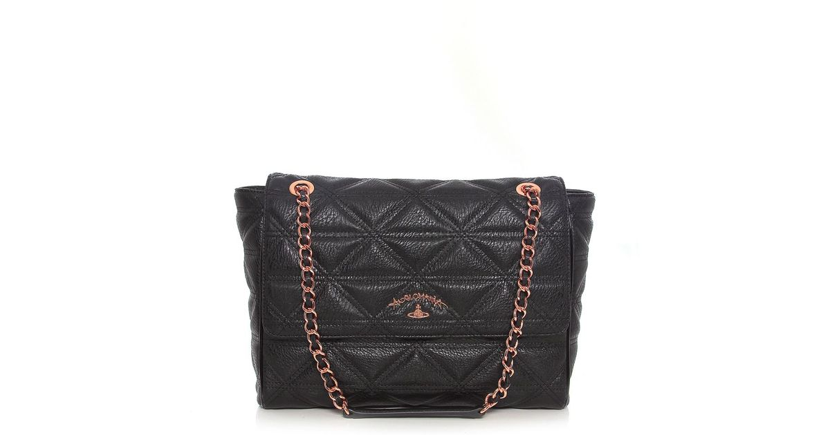 20fb6a179f9 Vivienne Westwood Sharlenemania Large Shoulder Bag in Black - Lyst