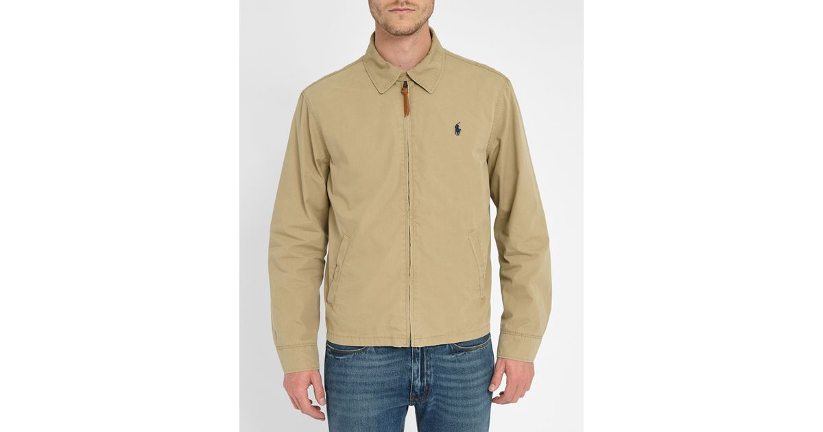 Polo Ralph Lauren Beige Shirt Collar Chino Jacket In