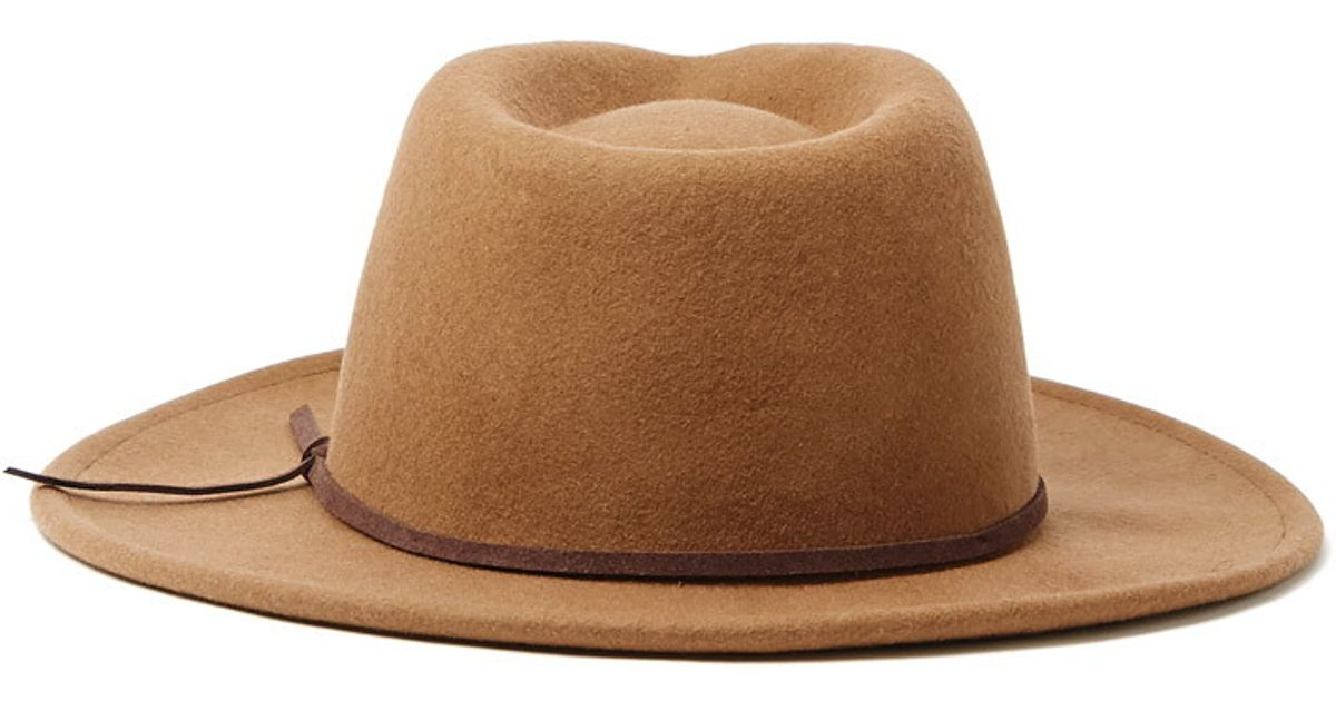 Lyst - Forever 21 Men Wide-brim Wool Fedora in Natural 41c5f086211