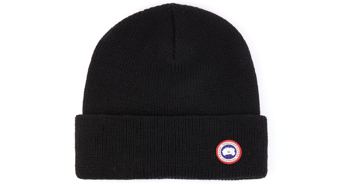 Lyst - Canada Goose Merino-Wool Watch Cap Beanie in Black for Men 2e2a6c98030f