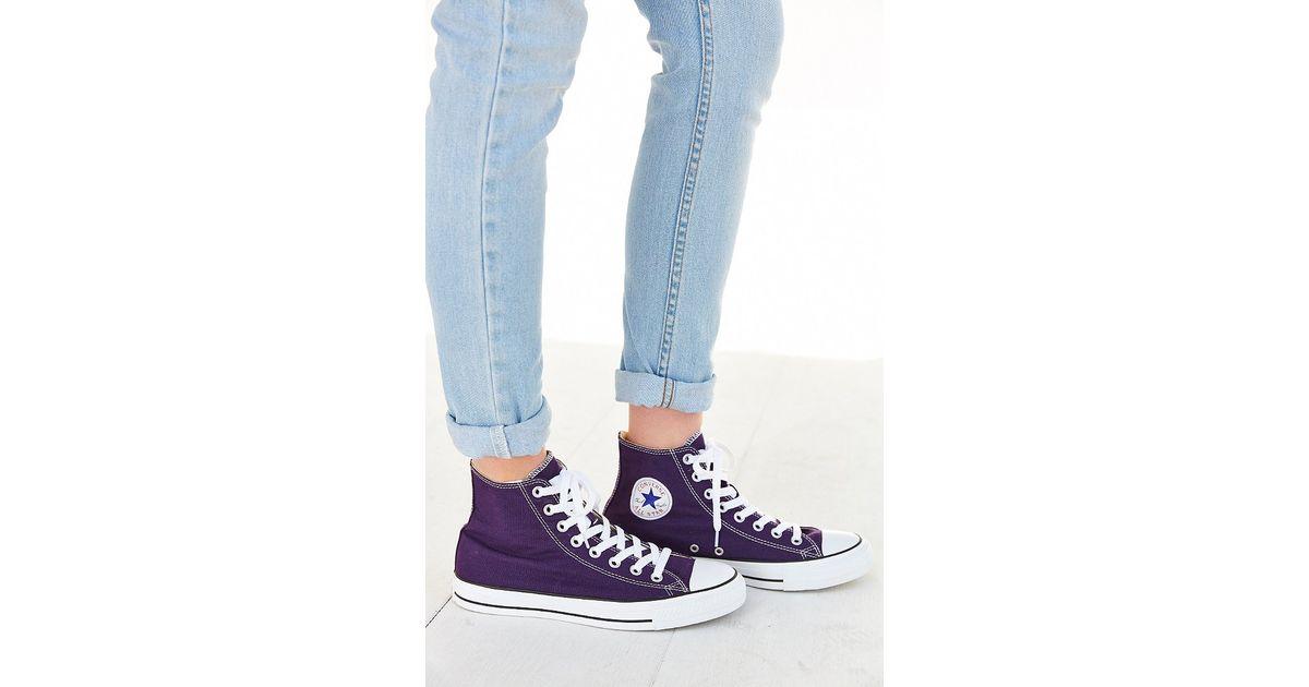 a64295c9deb7c7 Lyst - Converse Chuck Taylor All Star Seasonal High Top Sneaker in Purple