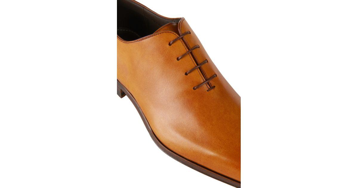 Lyst Boss T Exfull Italian Calfskin Oxford Dress Shoes In Brown For Men