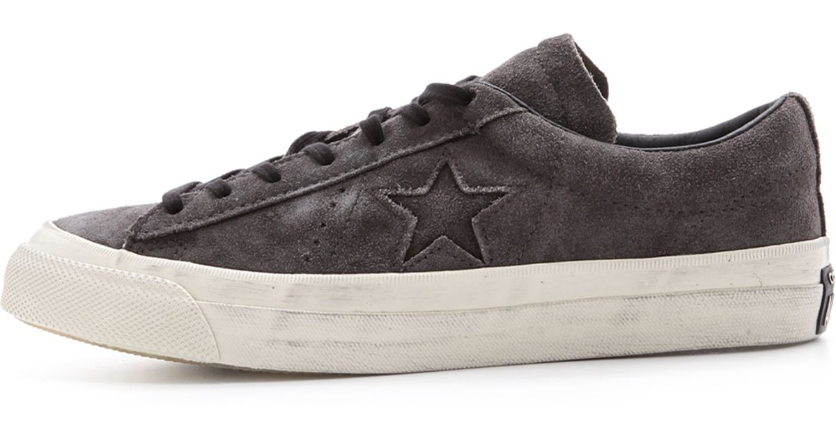 Lyst - Converse One Star Suede Sneakers in Gray for Men bc0428d6de80