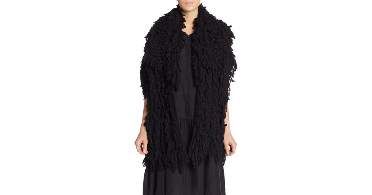 Dkny Wool-blend Cardigan in Black | Lyst