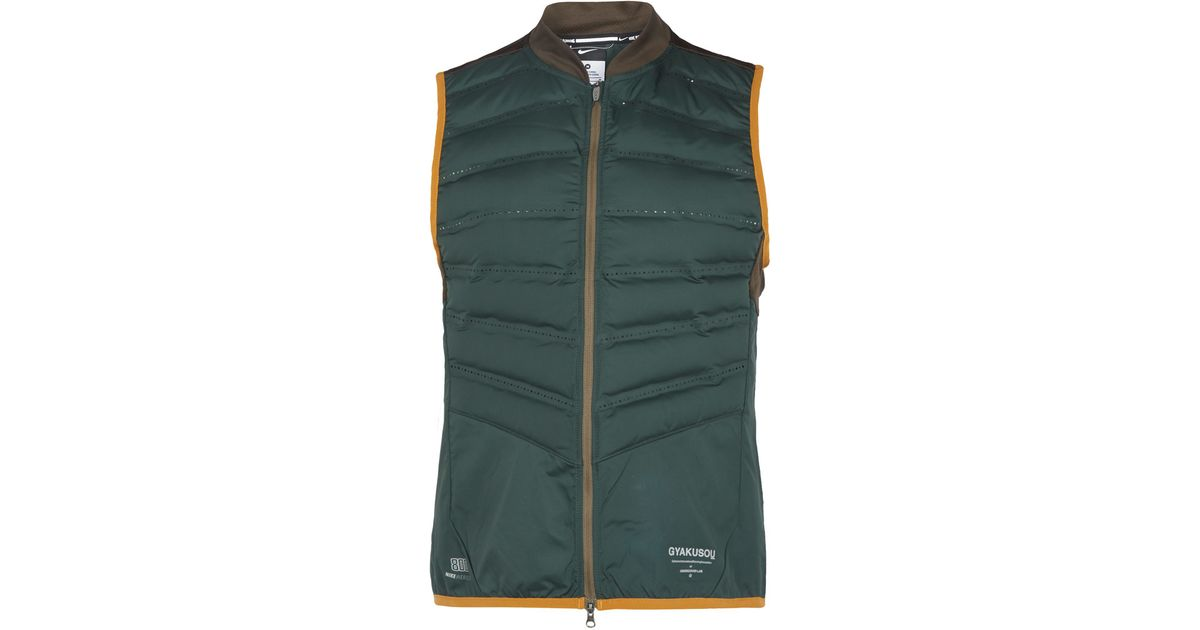 af1de9b8fe70 Nike Green Gyakusou Aeroloft Vest in Green - Lyst