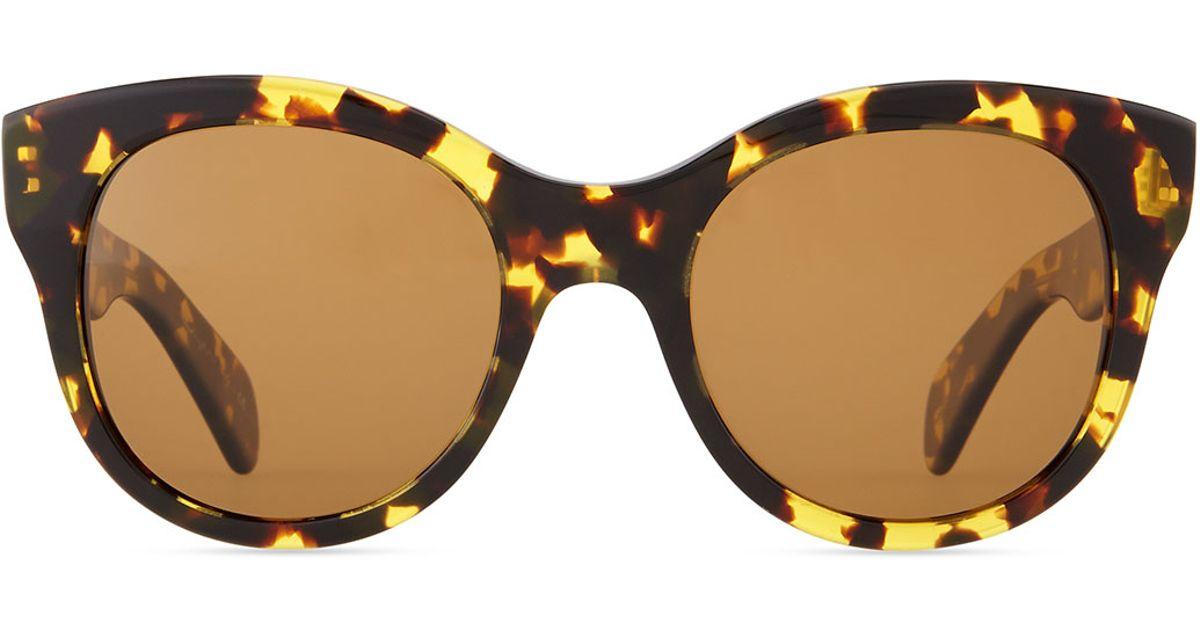 f59d5106b9 Lyst - Oliver Peoples Jacey Polarized Sunglasses Dark Tort in Black