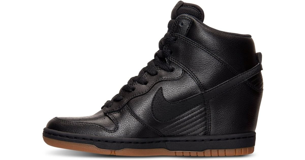 2b528ada39ab Lyst - Nike Dunk Sky Hi Essential Leather Sneakers in Black