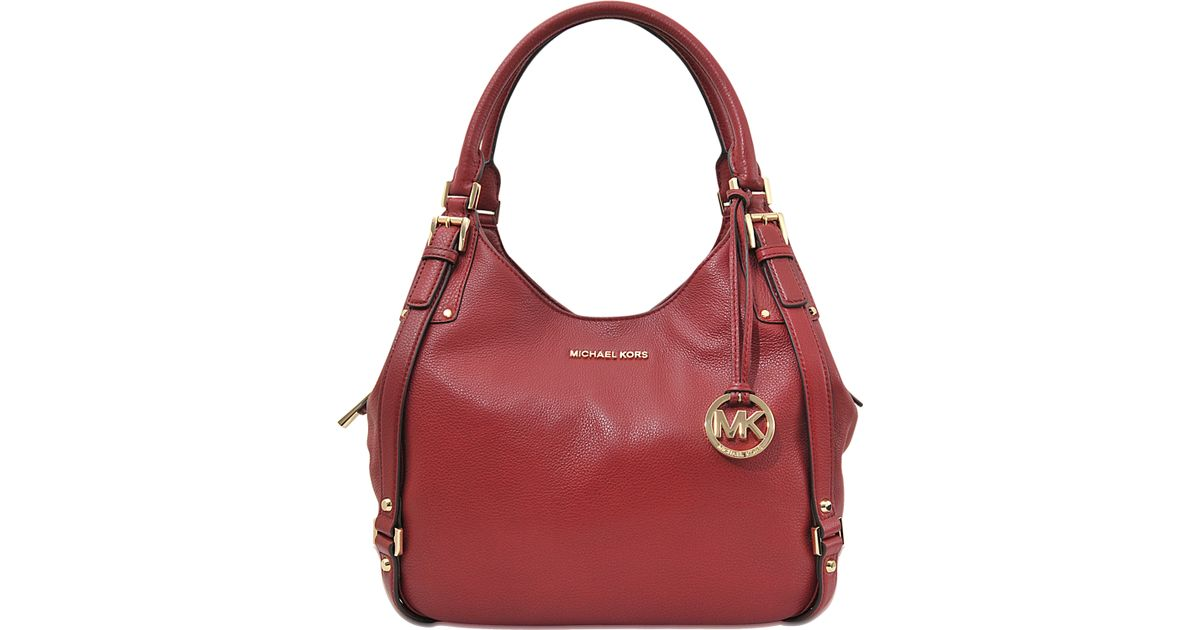 8c4e2e7a9f8361 MICHAEL Michael Kors Bedford Large Shoulder Tote in Red - Lyst