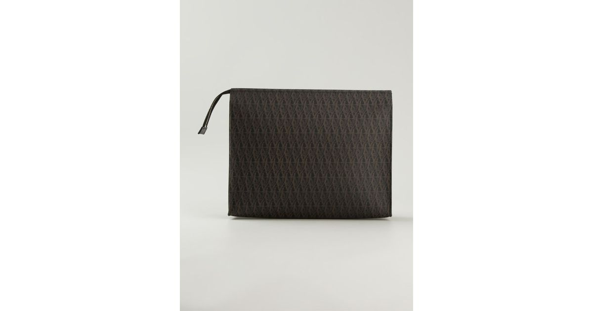 f886f51c3a4 Saint Laurent Toile Monogram Wash Bag in Brown for Men - Lyst