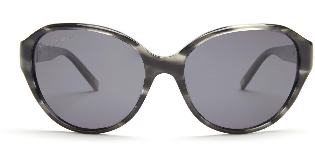 04342878936 Lyst - Tommy Bahama Tb7031 Black   Grey Printed Oval Polarized Sunglasses  in Black