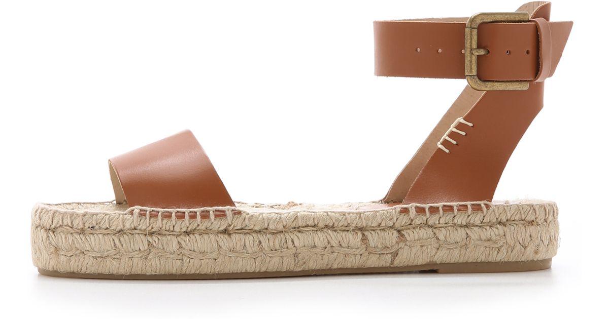d54f2c65fb31 Soludos Platform Open Toe Sandals in Brown - Lyst