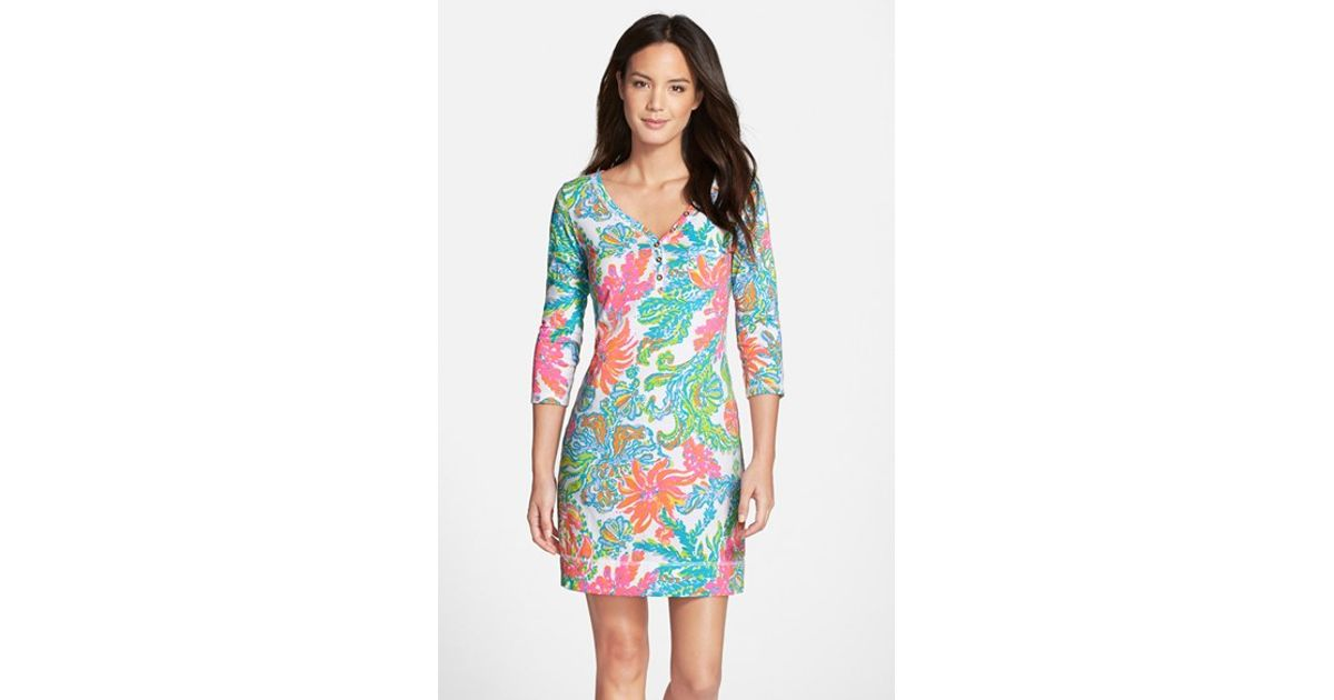 9ed0d61484 Lilly Pulitzer  palmetto  Print Pima Cotton T-shirt Dress - Lyst