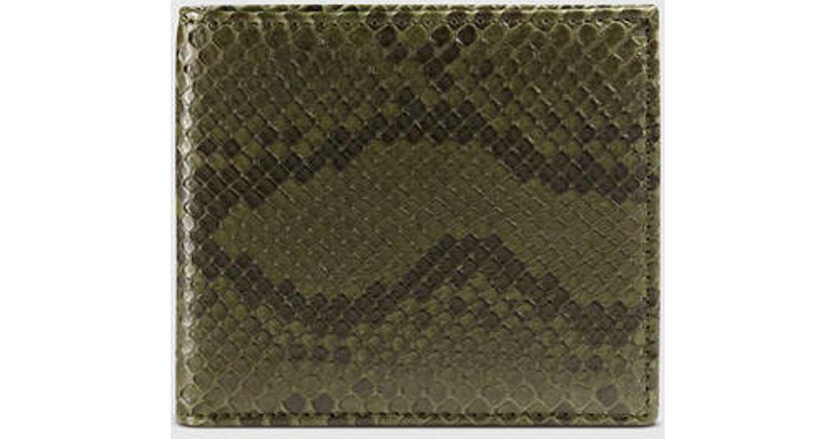aca5e0605d24 Gucci Python Bi-fold Wallet in Green for Men - Lyst