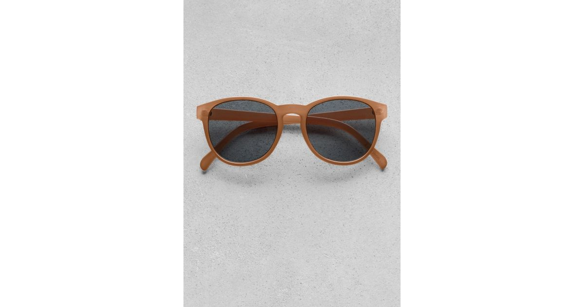 c2aa55ef8cb83   Other Stories Roundframe Sunglasses in Orange - Lyst
