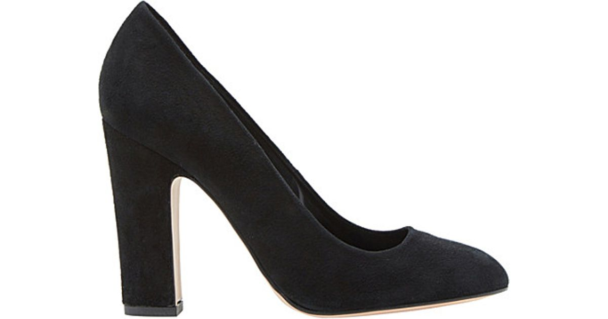 dff39a7a8c Dune Aubree - Almond Toe Block Heel Court Shoes in Black - Lyst