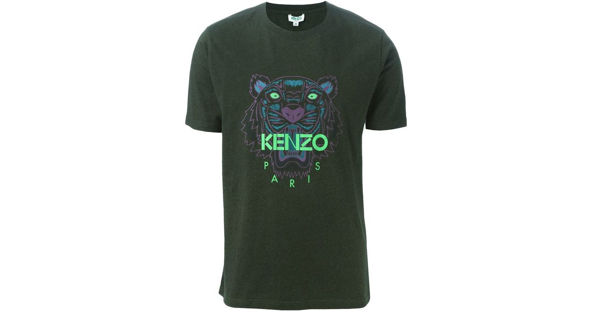 154b36df KENZO 'tiger' T-shirt in Green for Men - Lyst