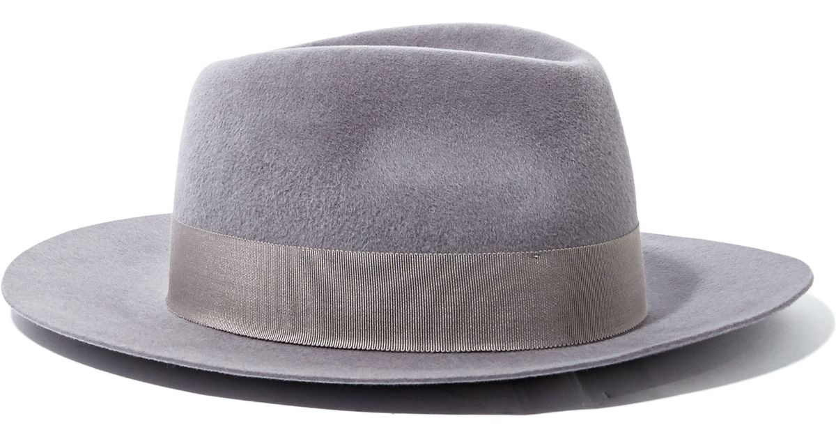Lyst - Larose Mens Rabbit Felt Fedora Hat in Gray for Men 63435dadf74