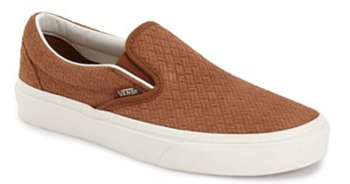 a8c2650ea0ae Lyst - Vans  classic  Slip-on Sneaker in Brown