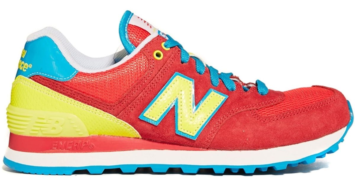 quality design 36b65 186e5 Lyst - New Balance Redyellow 574 Carnival Sneakers in Red