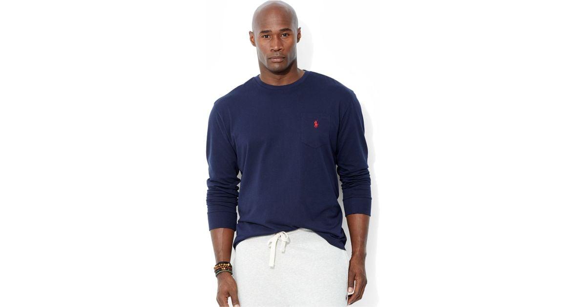 Ralph lauren mens pocket t shirts ralph lauren big and for Tall ralph lauren polo shirts