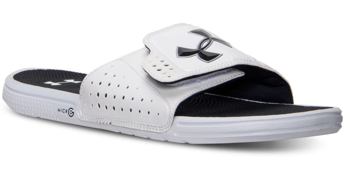 6dcd801dabbf8a Lyst - Under Armour Mens Micro G Ev Slide Sandals From Finish Line in White  for Men